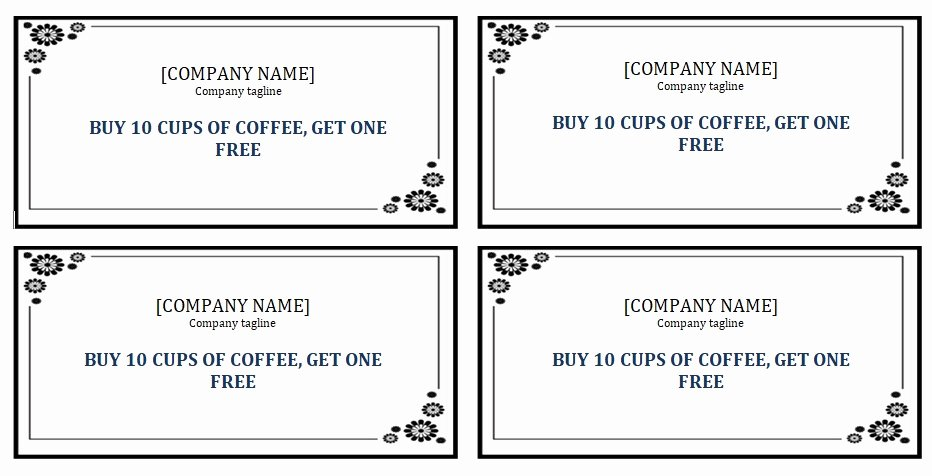 Punch Card Template Free Downloads Inspirational Editable Punch Card Template Ms Word Excel Tmp
