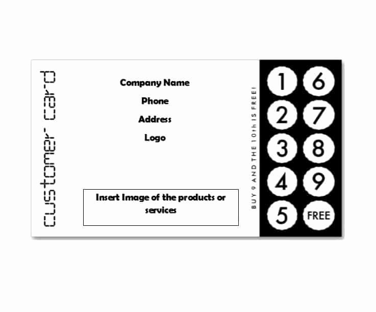 Punch Card Template Free Downloads Unique 30 Printable Punch Reward Card Templates [ Free]