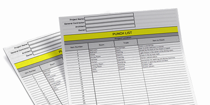 Punch List Template Excel Inspirational the Essential Punch List Template for Excel