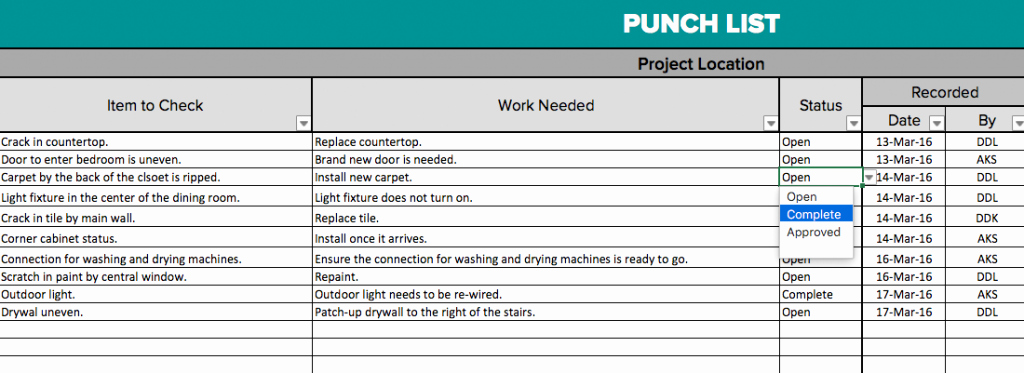 Punch Out List Template Awesome Own3d by Shourscout