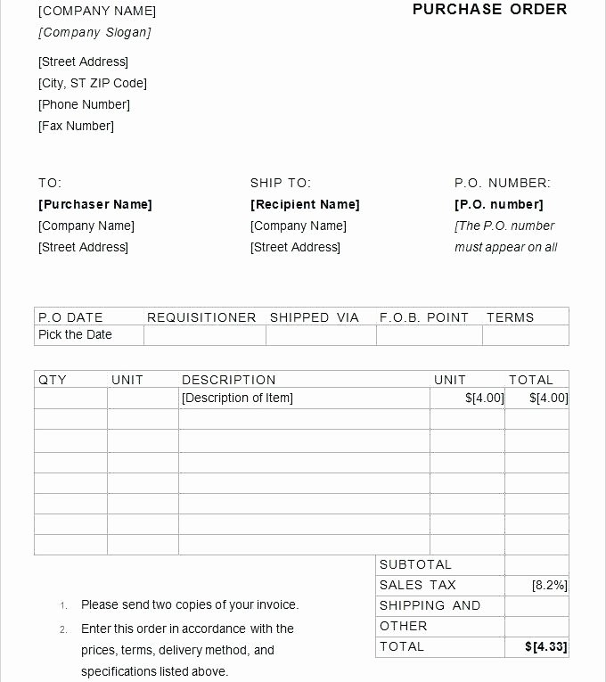 Purchase order Template Doc Beautiful T Er S Purchase order form Doc Sample – Narrafy Design