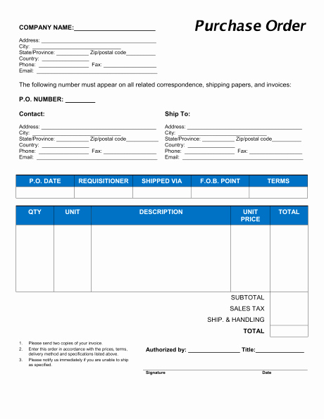 Purchase order Template Doc Best Of 11 Sample order form Templates Word Excel Pdf formats