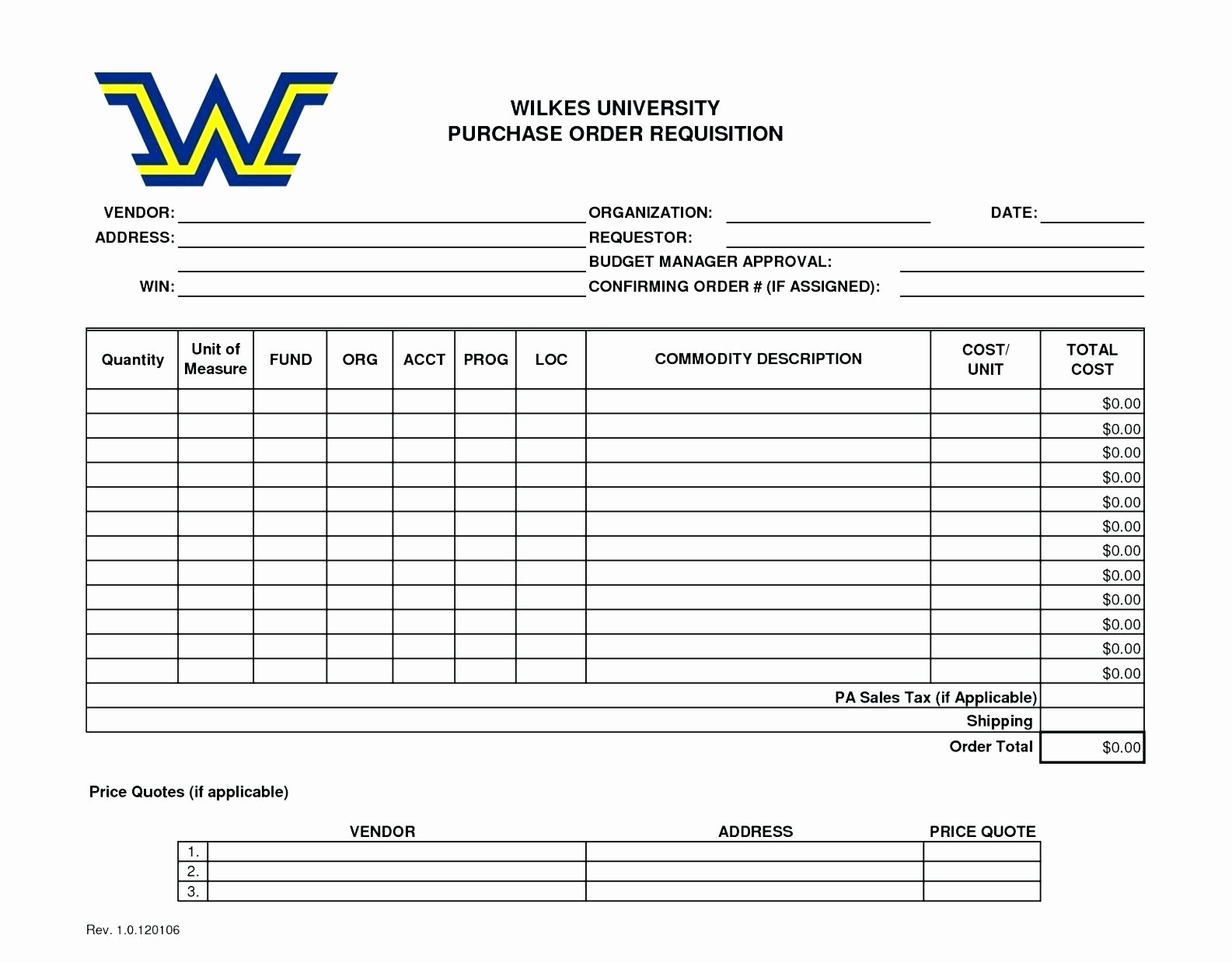 Purchase order Template Doc Best Of Template Purchase order Template Doc