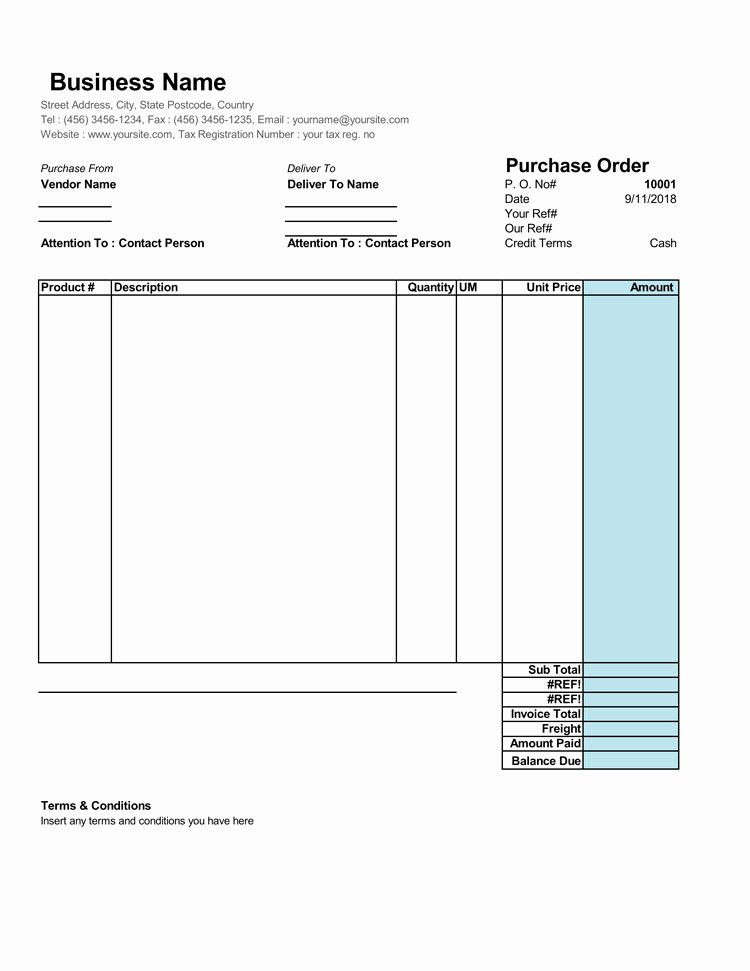 Purchase order Template Doc Luxury 40 Free Purchase order Templates forms