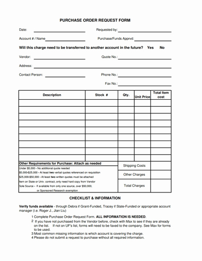 Purchase Requisition form Template Beautiful Purchase order Request form Template Free Download Edit