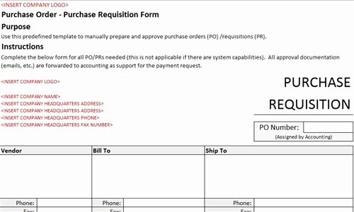 Purchase Requisition form Template Beautiful Purchase Requisition form Accounting Template