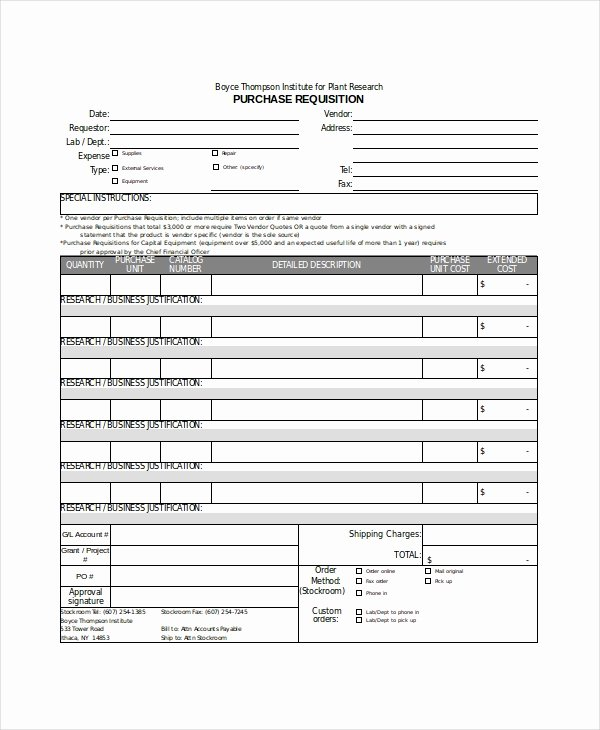 Purchase Requisition form Template Best Of Excel form Template 6 Free Excel Document Downloads