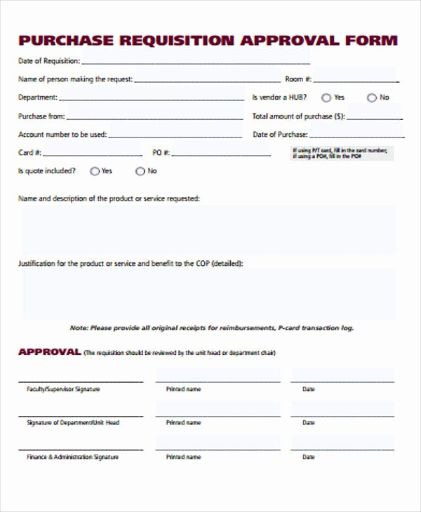 Purchase Requisition form Template Elegant 40 Sample Requisition forms In Pdf