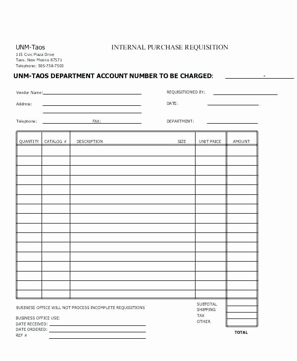 Purchase Requisition form Template Fresh Purchase Requisition form Excel Request Template Practical