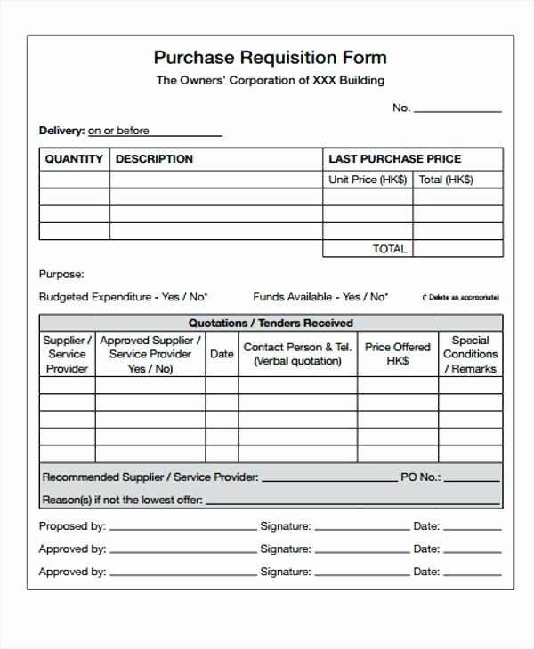 Purchase Requisition form Template Luxury Sample Purchase Requisition form Template – Cassifields
