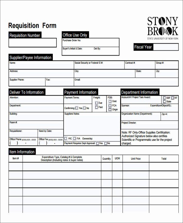 Purchase Requisition form Template New 22 Requisition form Samples