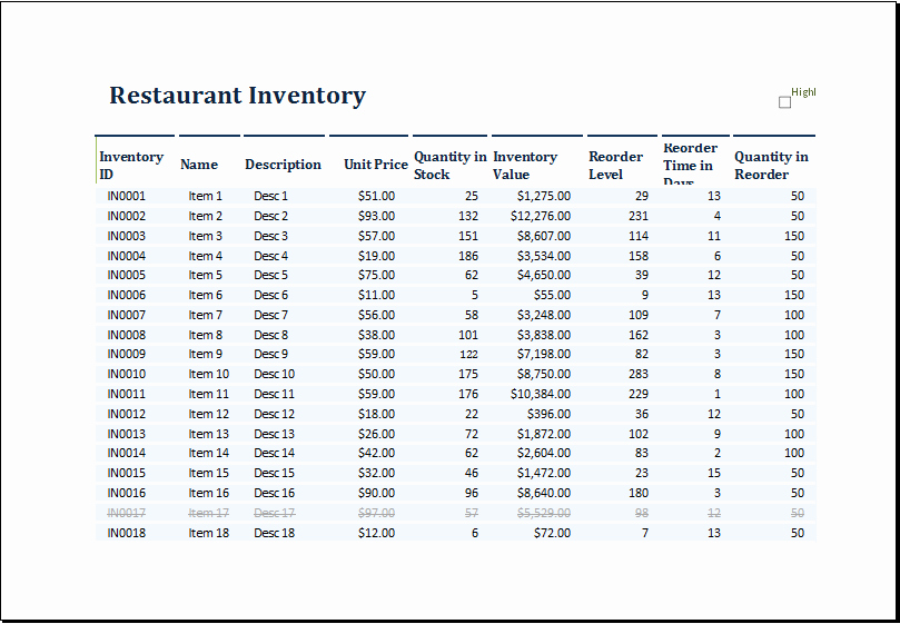 Purchase Sales Inventory Excel Template Best Of Ms Excel Restaurant Inventory Template