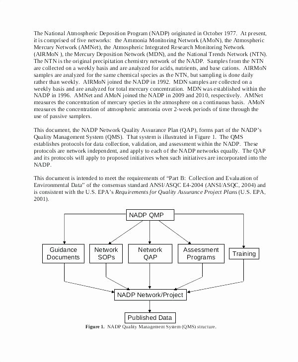 Quality assurance Plan Template Beautiful Quality Management Plan Template Example Sample