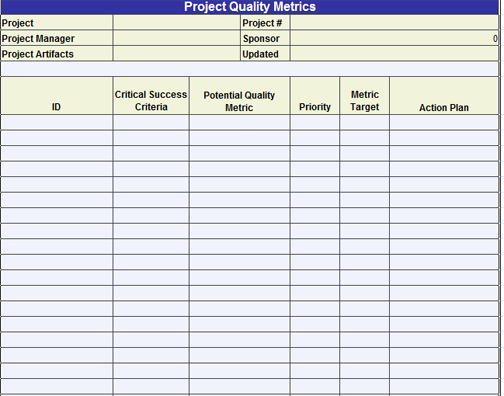 Quality assurance Plan Template Fresh Quality assurance Template Excel