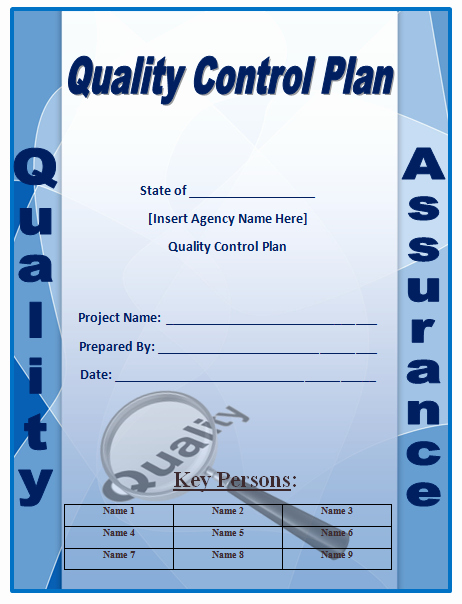 Quality assurance Plan Template Unique Quality Control Plan Template Microsoft Word Templates