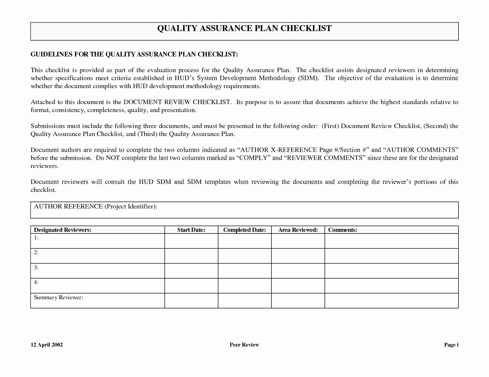 Quality assurance Plans Template Elegant Quality assurance Plan Template Quality assurance Plan
