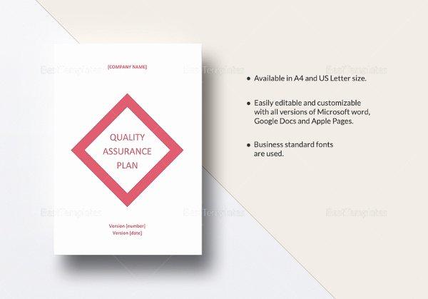Quality assurance Program Template New 12 Quality assurance Plan Templates – Free Sample