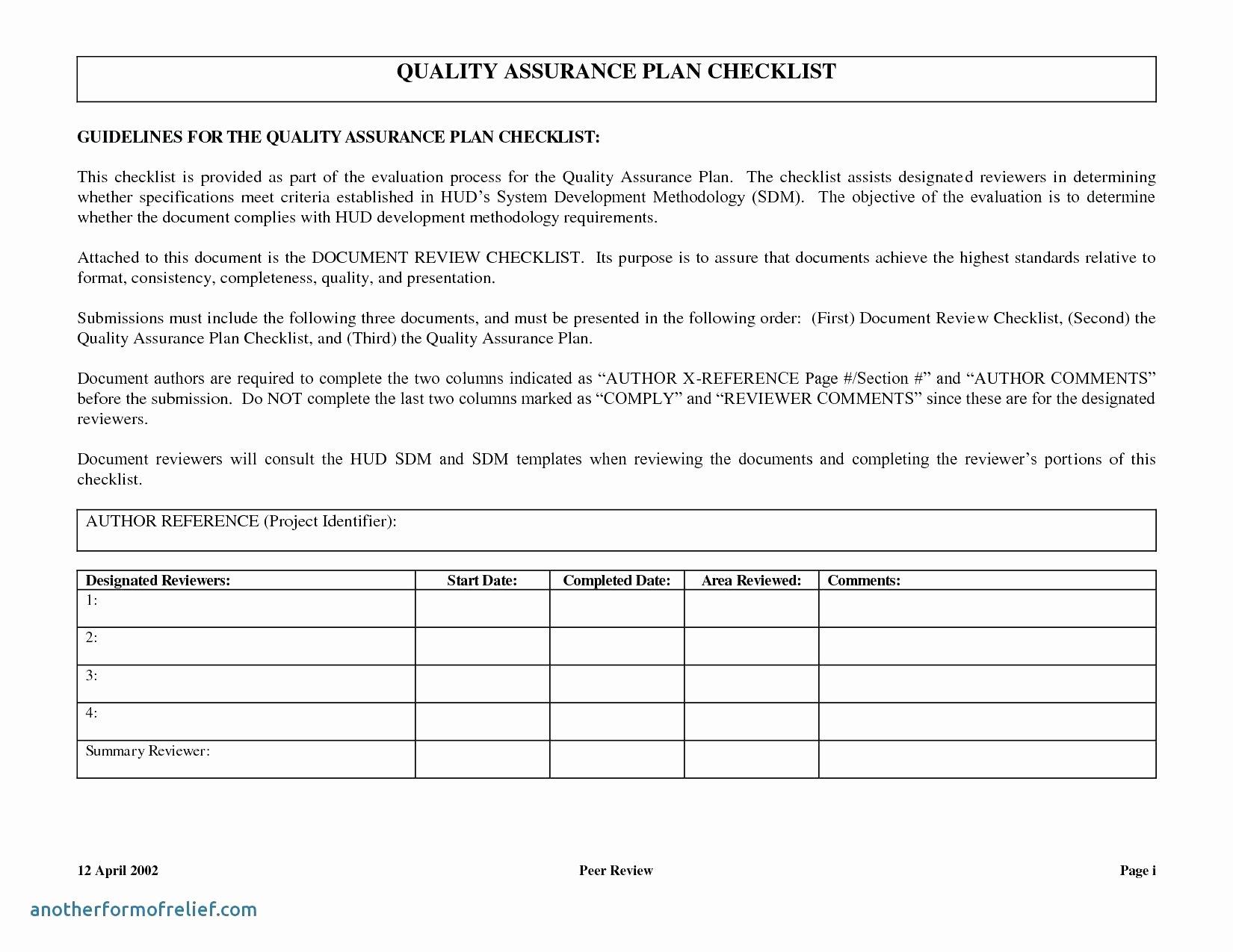 Quality assurance Report Template Unique software Quality assurance Report Template – Radiofama