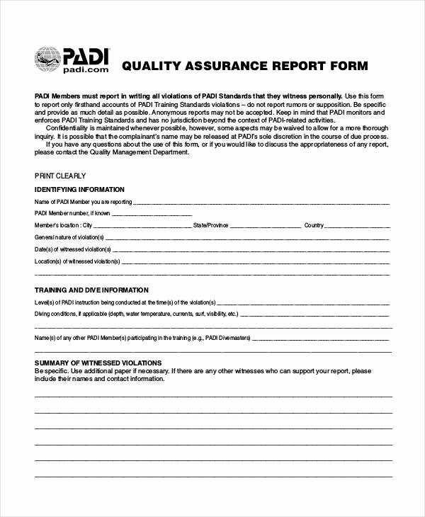 Quality assurance Reports Template Lovely 14 Quality Report Templates Pdf Word Pages Docs