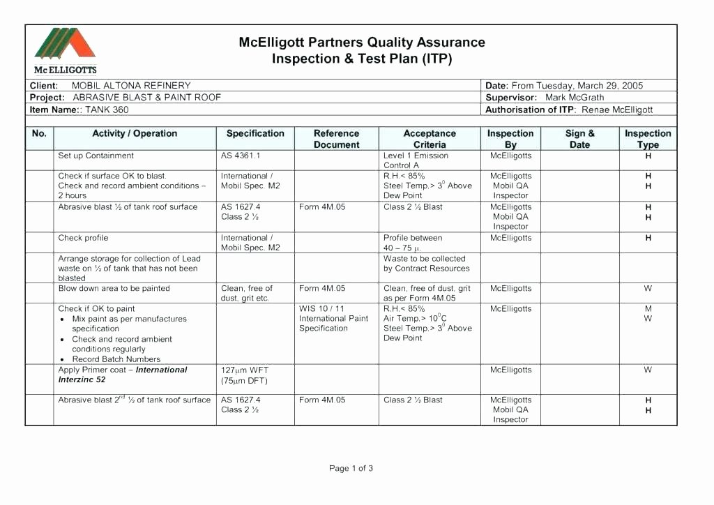 Quality assurance Reports Template Luxury Quality Report Template assurance Incident K Cash Internal