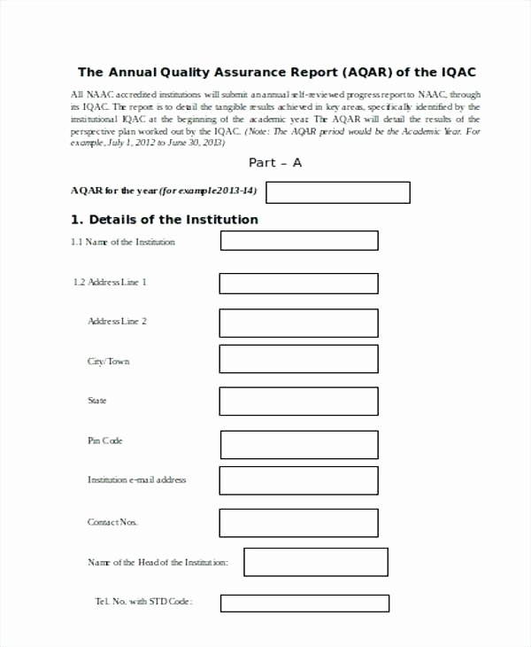 Quality assurance Reports Template Luxury Quality Report Template – Senetwork