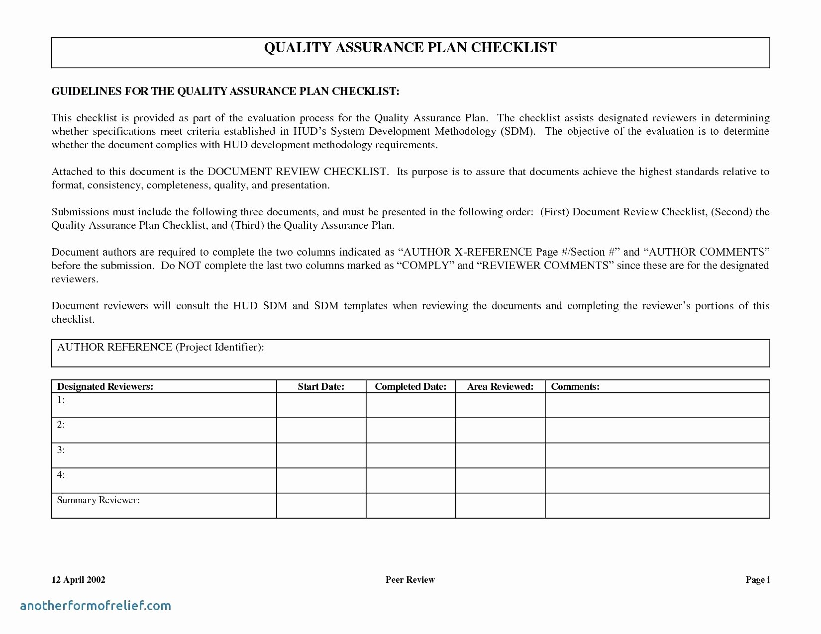 Quality assurance Reports Template Luxury software Quality assurance Report Template – Radiofama