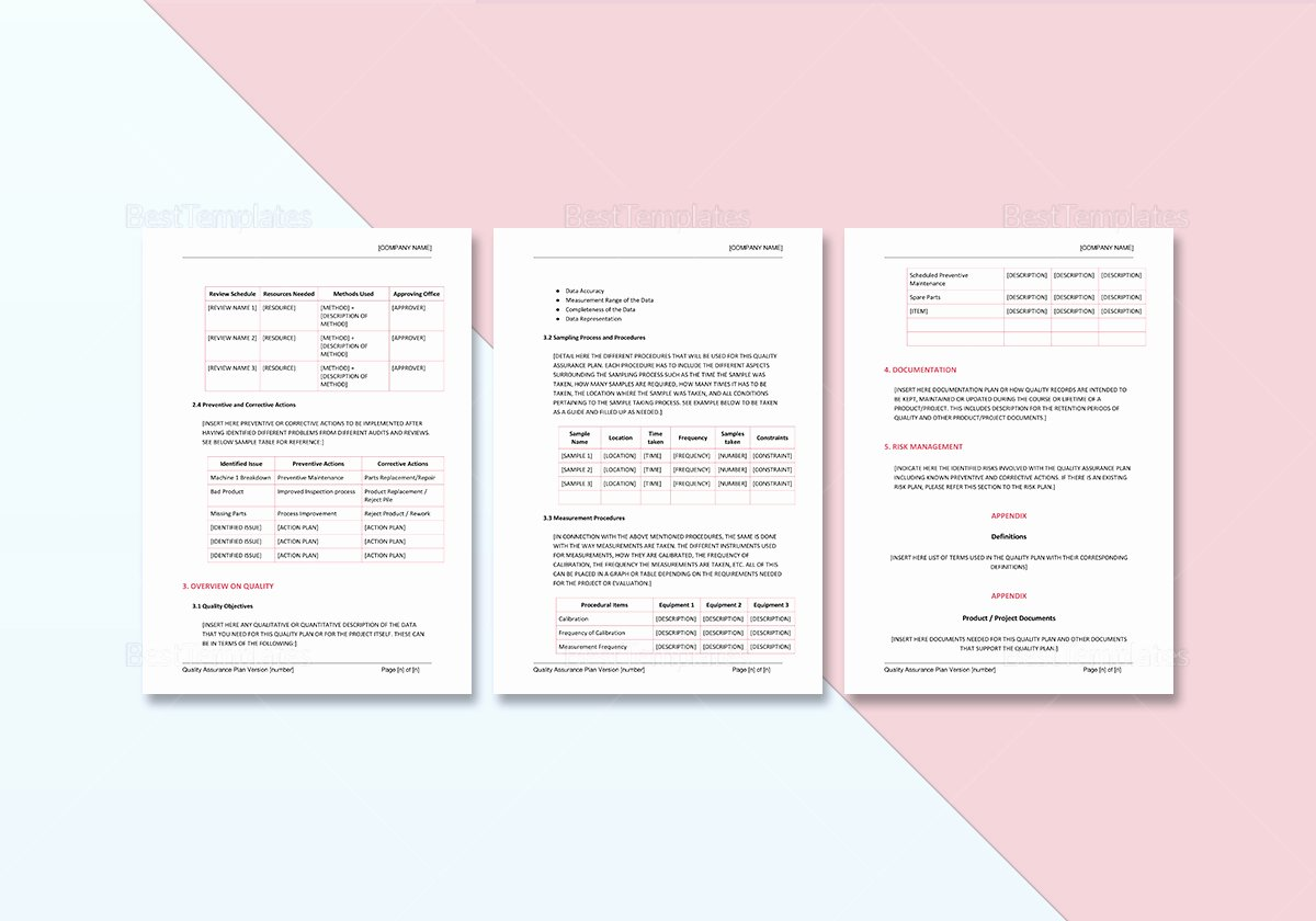 Quality assurance Template Documents Best Of Quality assurance Plan Template In Word Google Docs
