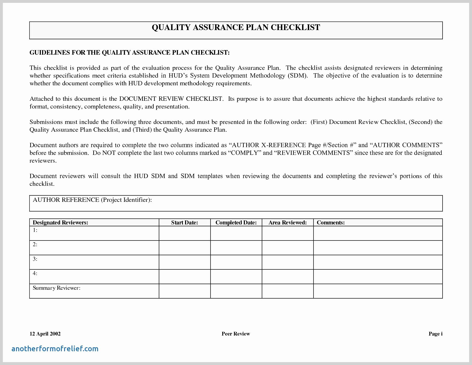 Quality assurance Template Documents Unique Qa Report Template software Quality assurance