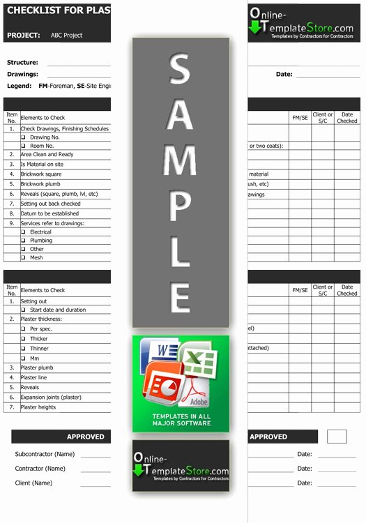 Quality Control Checklist Template Elegant Quality Control forms