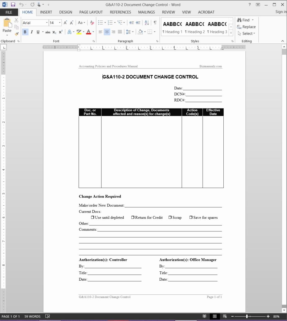 Quality Control Document Template Best Of Document Change Control Report Template