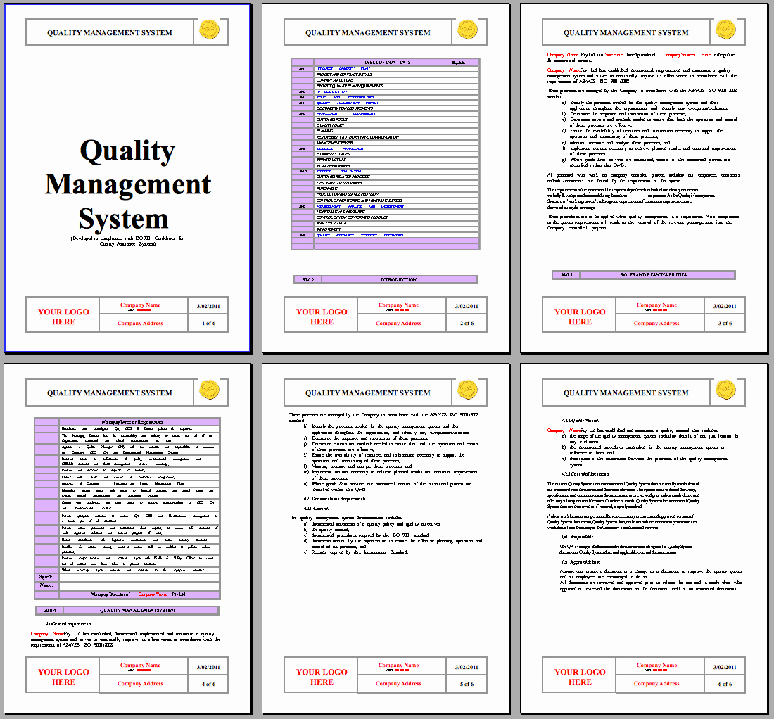 Quality Control Document Template Inspirational iso 9001 2015 Qa System Instant Download iso 9001 2015