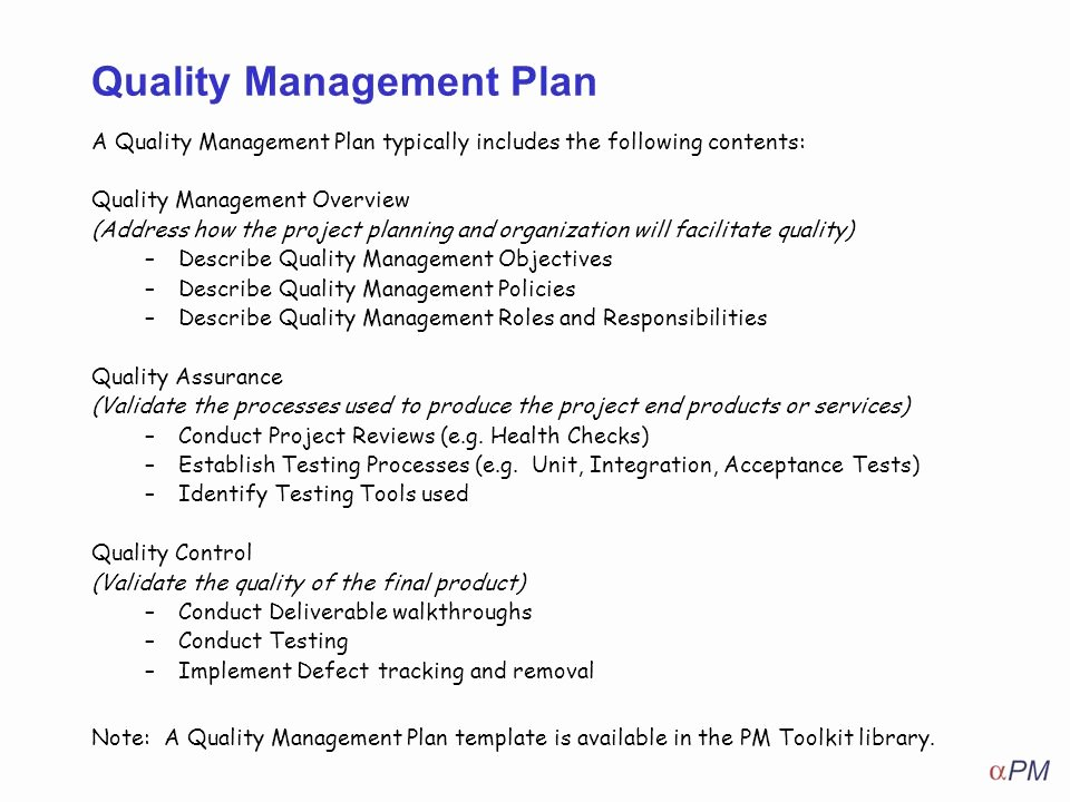 Quality Control Program Template Beautiful How to Apply Quality Management Ppt Video Online