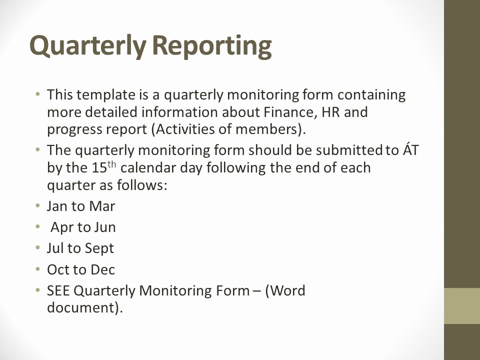 Quarterly Finance Report Template Beautiful Setting Up Your Pany Ppt