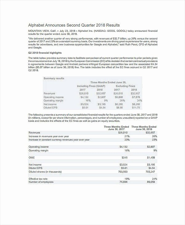 Quarterly Finance Report Template Inspirational 7 Quarterly Financial Report Templates Pdf Doc