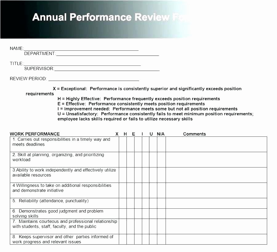 Quarterly Performance Reviews Template Awesome Employee Performance Review Template Word New Examples