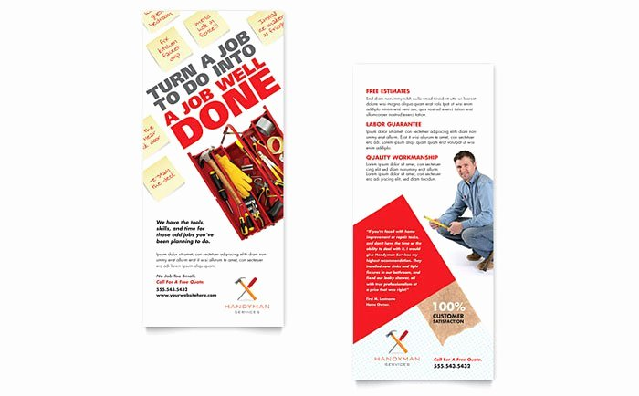 Rack Card Template Indesign Awesome Rack Card Flyer Designs