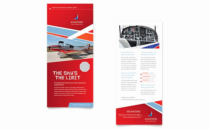 Rack Card Template Indesign Beautiful Aviation Flight Instructor Rack Card Template Design