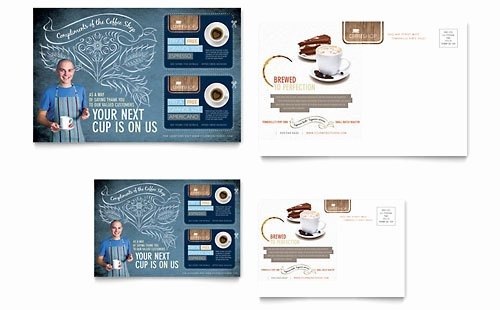 Rack Card Template Indesign Best Of Coffee Shop Rack Card Template Design