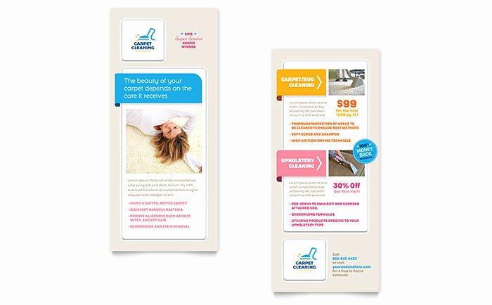 Rack Card Template Indesign Elegant Carpet Cleaning Rack Card Template Design