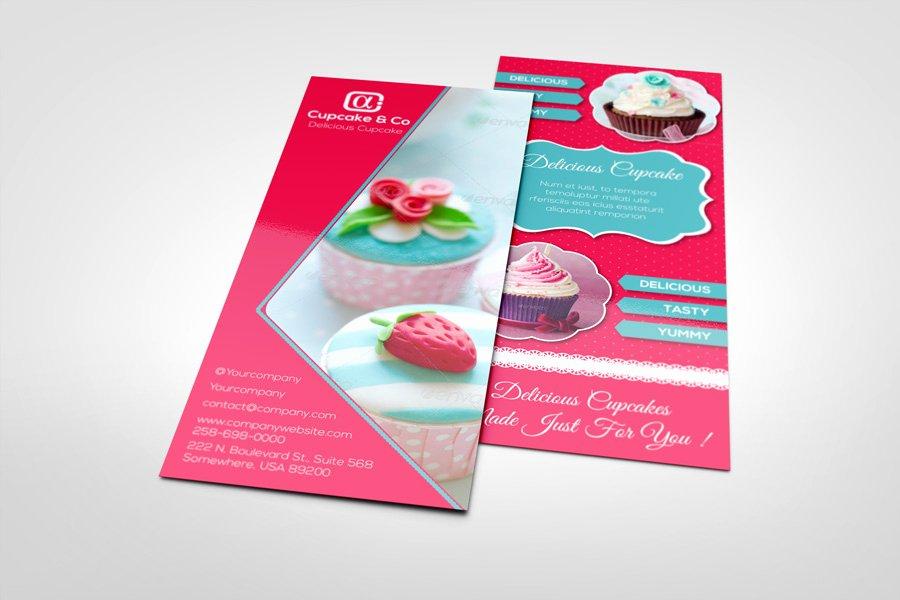 Rack Card Template Indesign Inspirational Sweet & Cupcake Rack Card