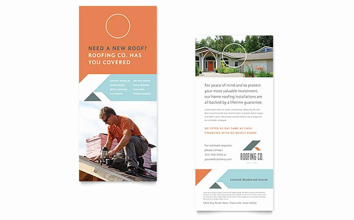 Rack Card Template Publisher Awesome Roofing Pany Rack Card Template Word & Publisher