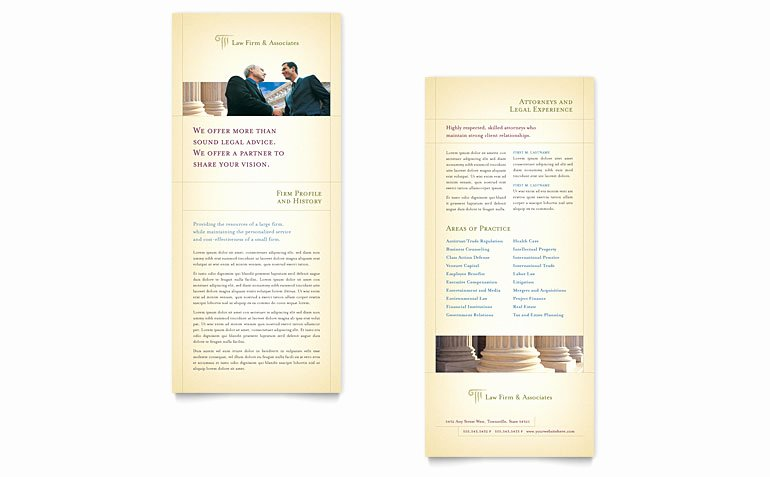 Rack Card Template Publisher Beautiful attorney & Legal Services Rack Card Template Word