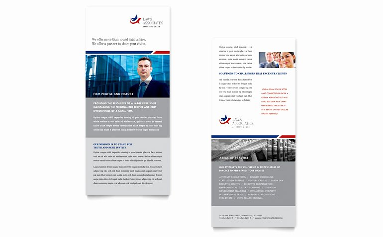 Rack Card Template Publisher Beautiful Legal & Government Services Rack Card Template Word
