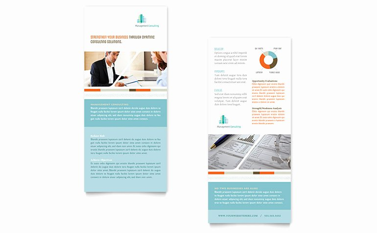 Rack Card Template Publisher Beautiful Management Consulting Rack Card Template Word & Publisher