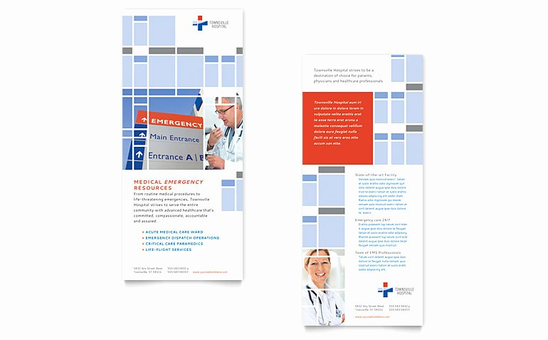 Rack Card Template Publisher Fresh Hospital Rack Card Template Word & Publisher