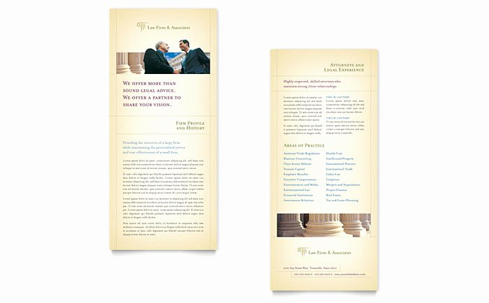 Rack Card Template Publisher Lovely attorney & Legal Services Rack Card Template Design