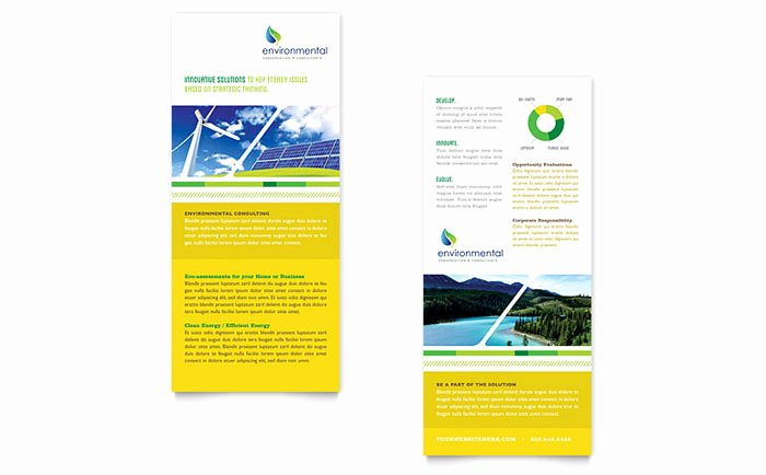 Rack Card Template Publisher New Environmental Conservation Rack Card Template Design
