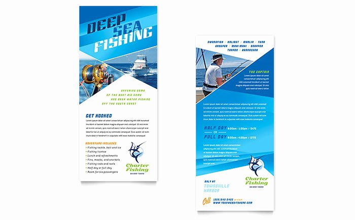 Rack Card Template Publisher Unique Fishing Charter & Guide Rack Card Template Word & Publisher