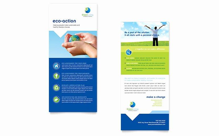 Rack Card Template Word Inspirational Green Living & Recycling Rack Card Template Word & Publisher