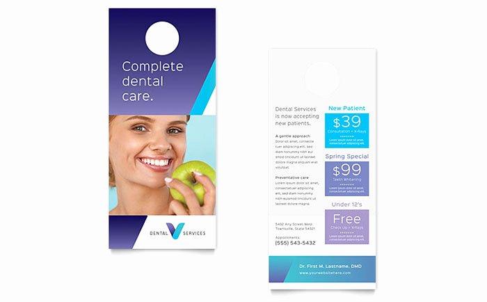 Rack Card Template Word Lovely Dentist Rack Card Template Design